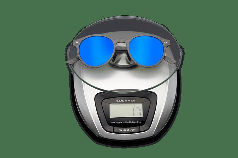 Gafas de sol fibra carbono azules