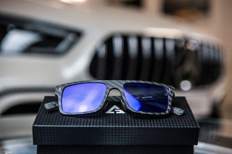 gafas de sol de fibra de carbono blancas 3