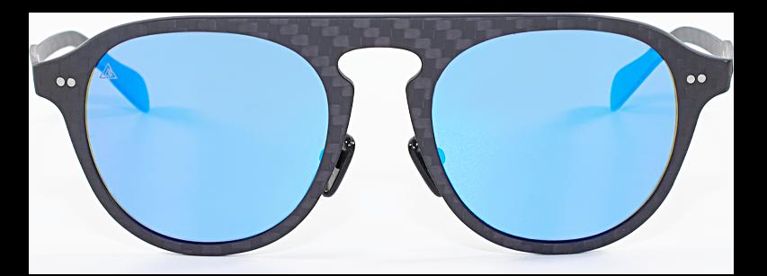 gafas de sol azul de fibra de carbono