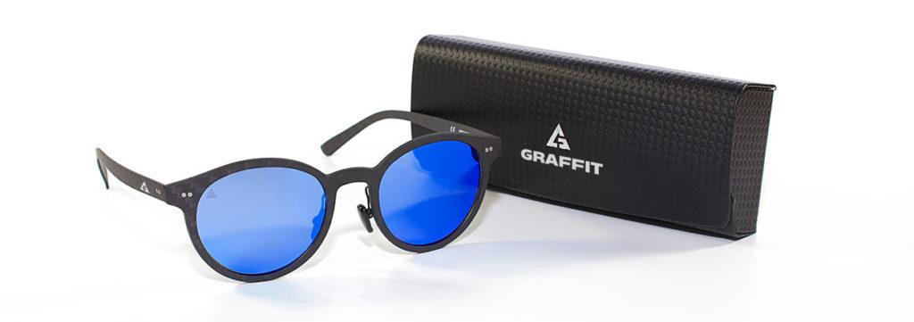 gafas redondas en fibra de carbono