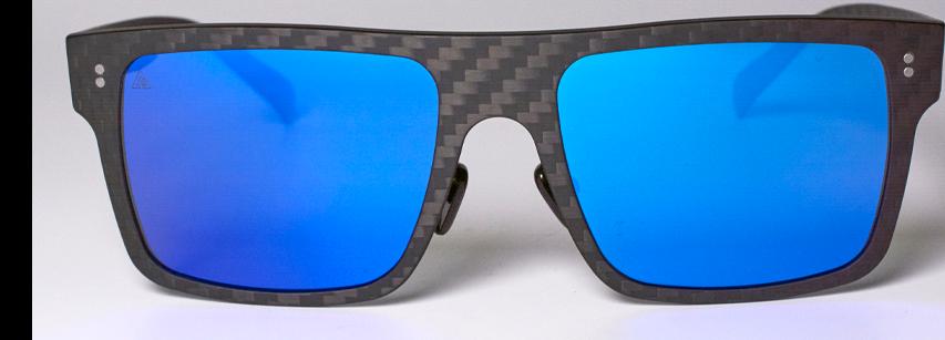 gafas cuadradas azules fibra de carbono