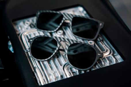 Gafas de sol cuadradas de fibra de carbono