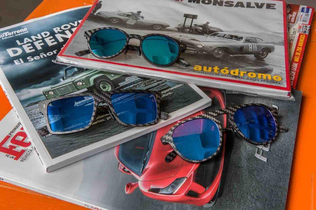 gafas de sol con cristales polarizados y montura de fibra de carbono
