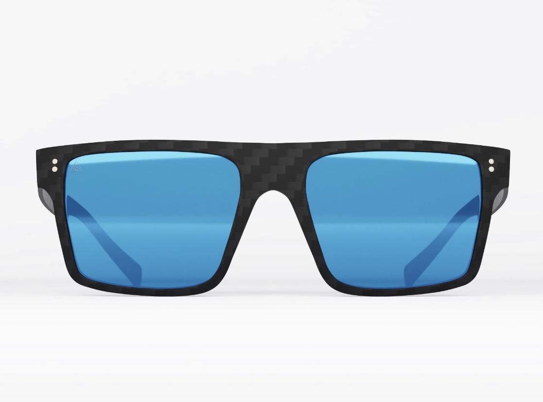 Graffit – Square: Mirror Blue. Gafas de sol de fibra de carbono