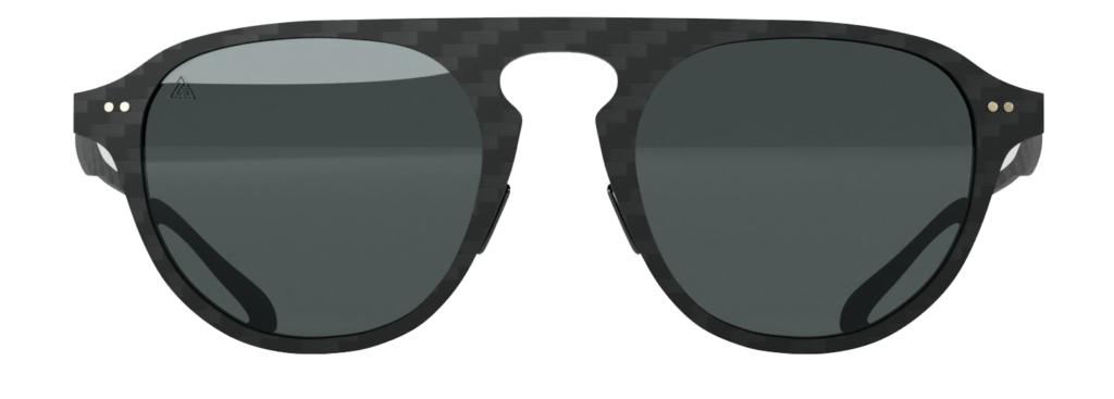 Gafas de sol Aviator Black. Fibra de carbono, cristales polarizados, filtro UV-400.
