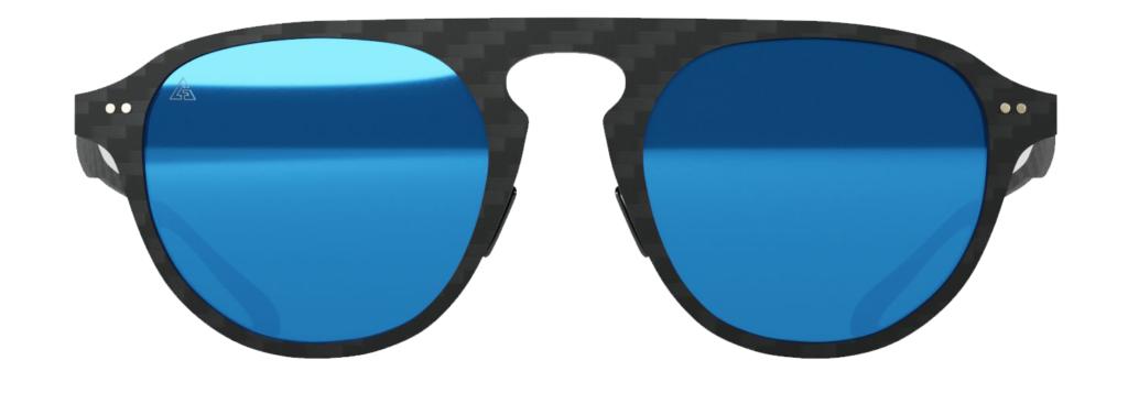 Gafas de sol Aviator Blue Mirror. Fibra de carbono, cristales polarizados, filtro UV-400.