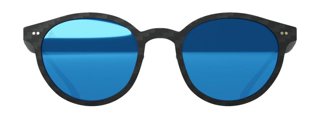 Gafas de sol Selfie Blue Mirror. Fibra de carbono, cristales polarizados, filtro UV-400.