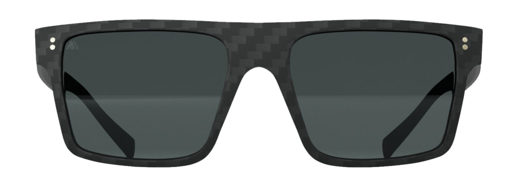 Gafas de sol Square Black. Fibra de carbono, cristales polarizados, filtro UV-400.